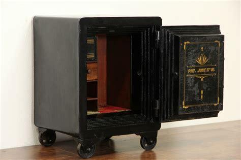 SOLD   Cast Iron Antique Safe, Combination Lock, Pat 1888