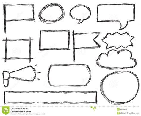doodle bubbles vector free doodle frames and speech bubbles stock vector