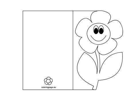Mother S Day Card Coloring Page Mother S Day Pinterest Craft Cards And Template Colouring In Templates