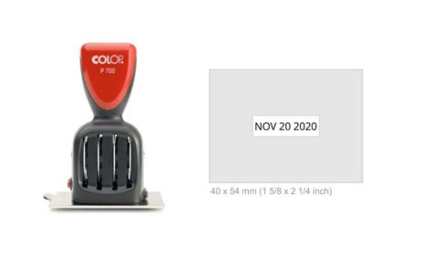 Home Name Plate Design Online Colop P700 15 Die Plate Date Stamp