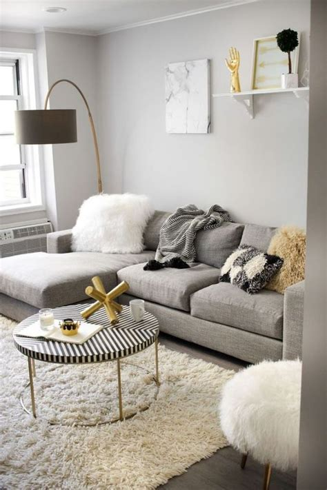 gray and gold 3 modern secrets to decorate a tiny space digsdigs