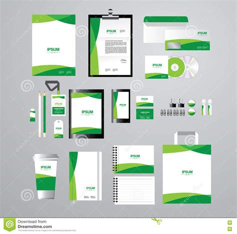 corporate folder template corporate identity template for your business set b stock
