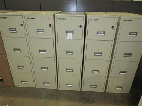 Used Office File Cabinets : Sentry Fireproof vertical