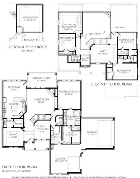 house plans with big bedrooms 2 story 3885 square foot air conditioning optional