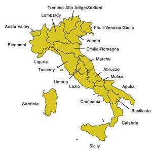 Italy Map Regions by Map Of Italy With Regions Italian Special Interest Group