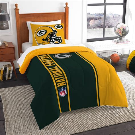 green bay packer bedding green bay packers twin size comforter set ebay