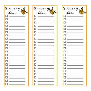 blank grocery list template sle grocery list 9 documents in pdf word excel