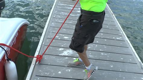 boat dock line knots best dock line handler ever youtube