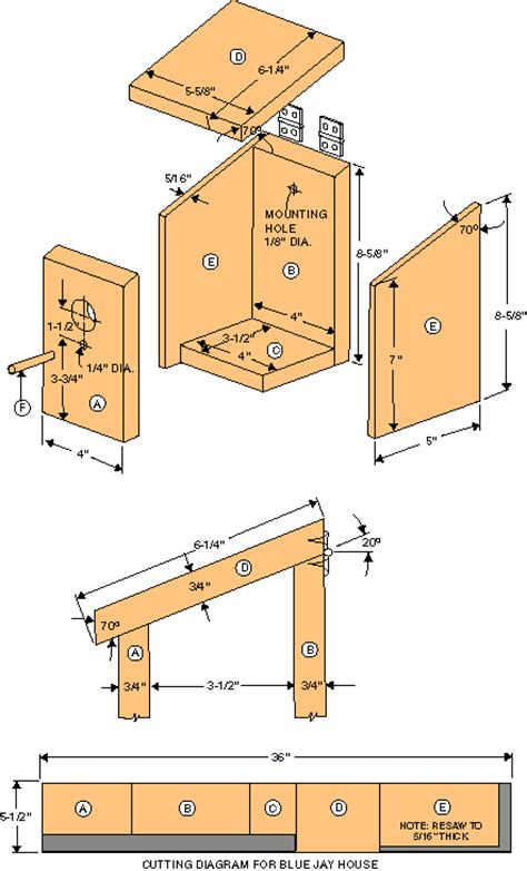 blue jay bird house plans woodwork bird house plans for a blue jay pdf plans