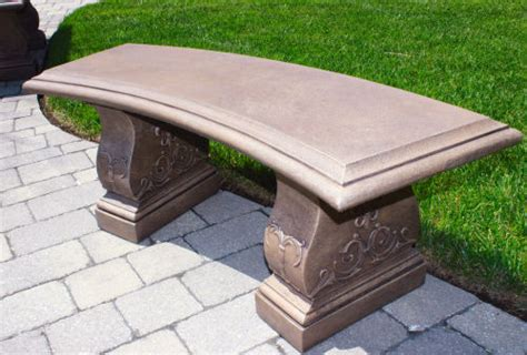 cement garden bench jubilee curved cement garden bench