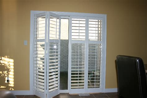 Bypass Shutters For Patio Doors Plantation Shutters For Patio Doors Icamblog