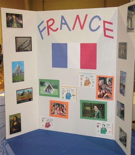 design poster board ideas france booth tri fold display world thinking day
