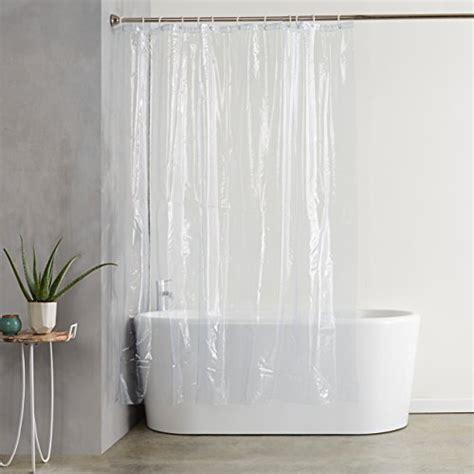 clear pvc shower curtain amazonbasics ultra heavyweight 20 gauge pvc shower curtain