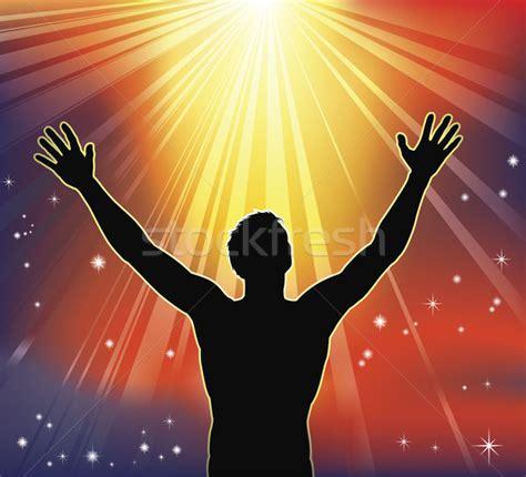 mundo do homem espiritual imagem de stock royalty free espiritual 183 alegria 183 homem 183 bra 231 os 183 c 233 u 183 religiosa