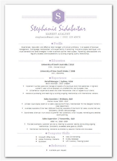 Resume Template Modern Resume And Cover Letter Resume And Cover Letter Sophisticated Resume Template