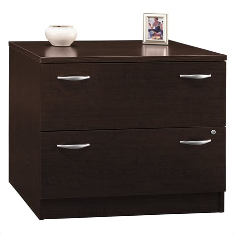 Lateral File Cabinet 2 Drawer Bush Furniture Series C 2 Drawer Lateral Wood File Mocha Cherry Filing Cabinet Ebay