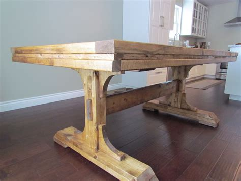 white pedestal farmhouse table diy projects