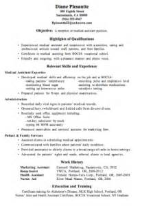 Medical Assistant Resume Objective Statement Medical Assistant Resume Objective Examples Medical