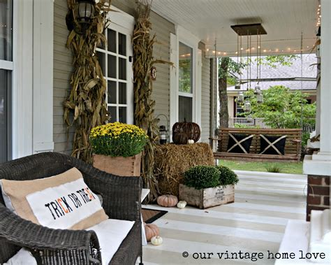 Front Porch Decorations by Our Vintage Home Autumn Porch Ideas