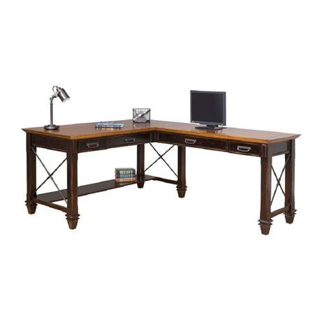 martin furniture hartford writing desk martin furniture hartford open l shaped desk in two tone