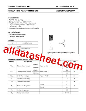 russian transistor equivalent 2sd669a datasheet pdf savantic inc