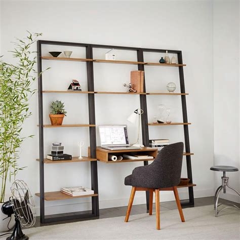 ladder desk with shelves ladder shelf desk wide bookshelf set west elm uk