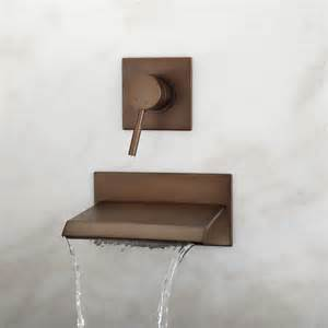 wall mounted bathtub faucet lavelle wall mount waterfall tub faucet tub faucets