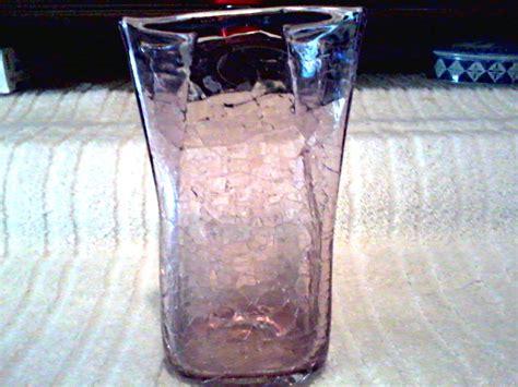 Blenko Handcraft - blenko handcraft amethyst crackle paper bag vase original