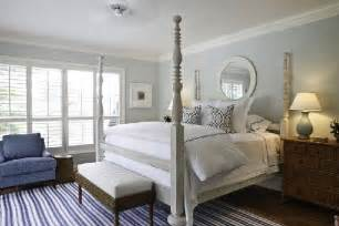 grey blue white bedroom gray 4 poster bed transitional bedroom phoebe howard