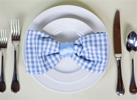 Folding Paper Napkins With Ribbon - jen san francisco bow tie napkin fold