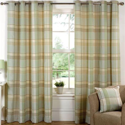 home design store hamilton hamilton check curtains 45 quot width x 54 quot drop meadow