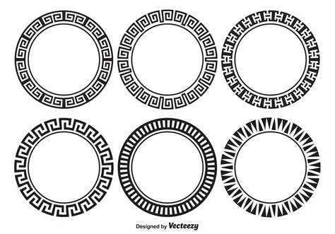 Versace Bulat decorative frame set free vector