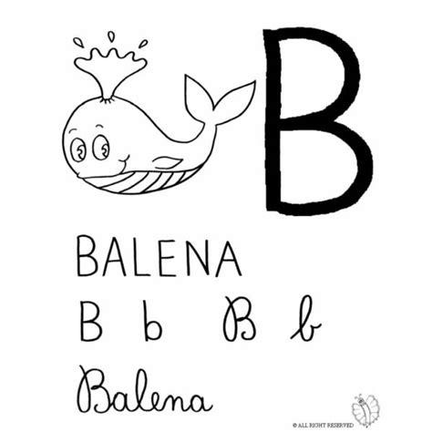 lettere dell alfabeto italiano da stare immagini lettera b disegno di lettera b di balena da