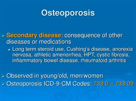 icd 9 code osteoporosis ppt bisphosphonate related osteonecrosis of the jaw