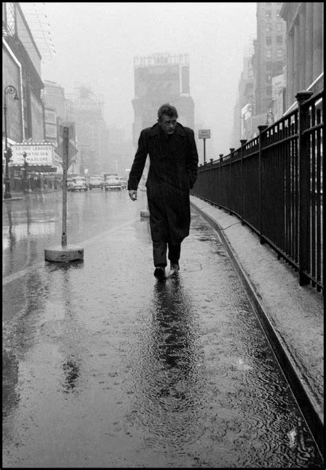 The Iconic Photo of James Dean, Alone in the Rain, in the