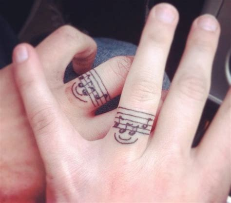 couples music tattoos tattoos for brand new guff