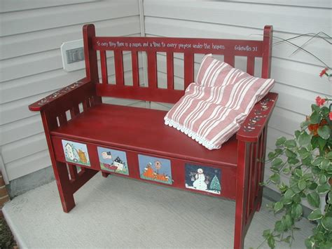 painted bench ideas hand painted bench project ideas pinterest