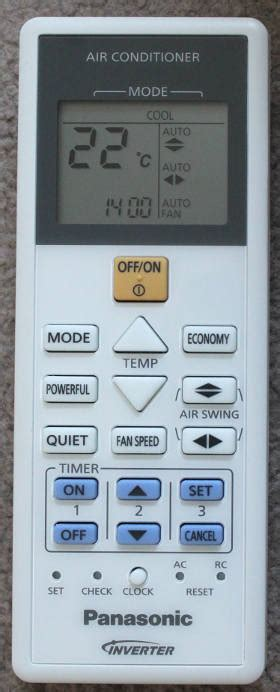 Remot Remote Ac Panasonic Inverter Kw changing the time on the panasonic air conditioner remote newspaint