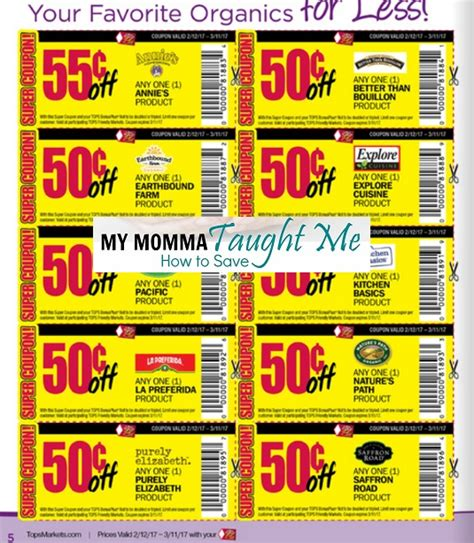 tops grocery coupons printable tops markets organic flier and coupons 2 12 3 11 my