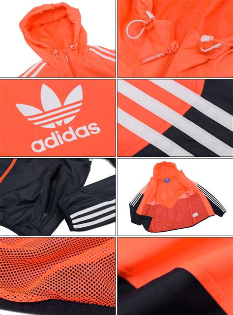 Jaket Pria Korea Adidas Justien Black field rakuten global market adidas adidas jacket s colorado windbreaker lite orange