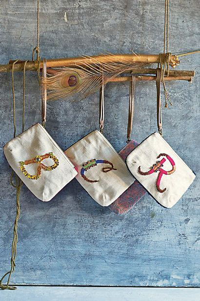monogram pouch lettersnumbers pouch anthropologie