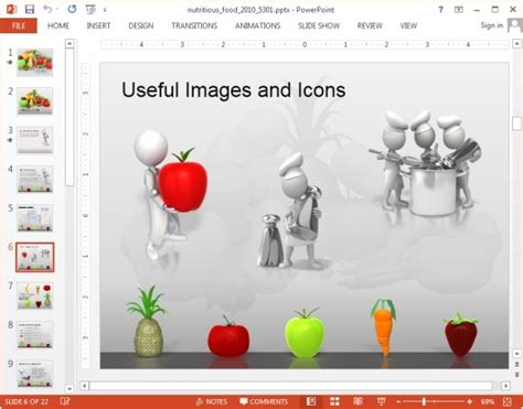 Animated Nutrition Powerpoint Templates Nutrition Powerpoint Template