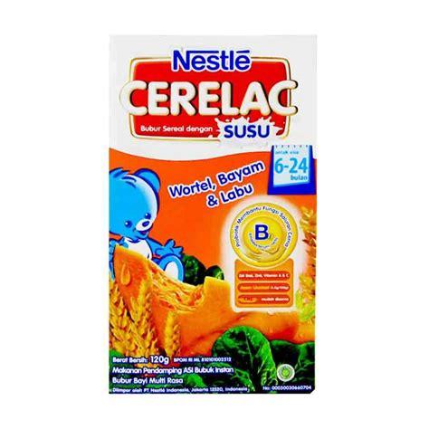 Bayi Produk Nestle jual nestle cerelac makanan bayi wortel bayam labu 120gr harga kualitas terjamin