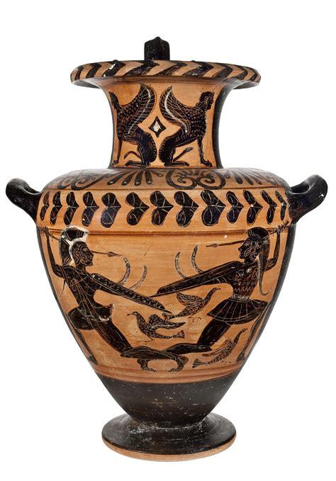 vasi greci immagini set di vasi greci dell acquerello ultravioletta foto stock