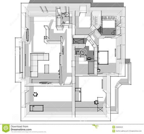 Wohnung Zeichnung by Skizze Der Wohnung 3d Stockfotos Bild 23993523
