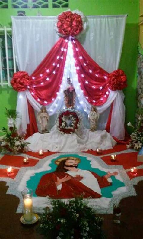 imagenes de altares de novenarios con papel altar del corazon de jesus altares para difuntos pinterest