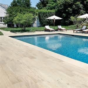 Cherry Wood Vanities Pool With Wood Plank Tile Surround Traditional Pool