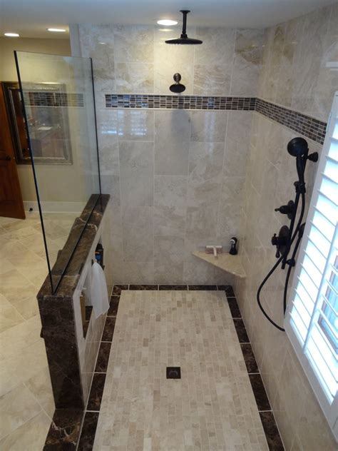 multiple shower head system Spaces with built in bench built   beeyoutifullife.com