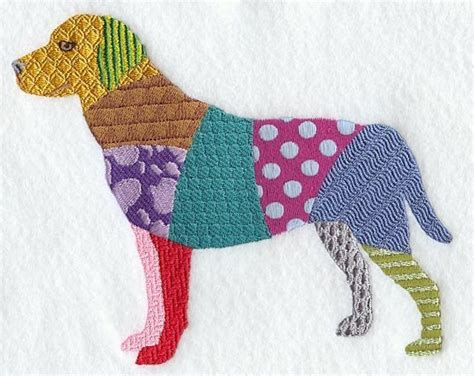 Patchwork Embroidery Designs - patchwork machine embroidery quilt block azeb