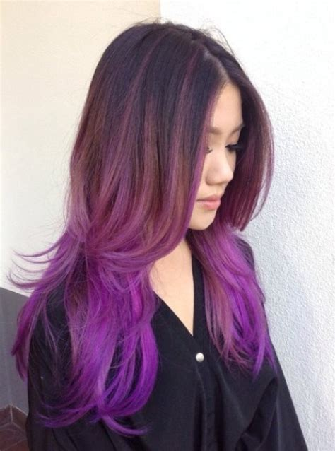 40 versatile ideas of purple highlights for brown and hair